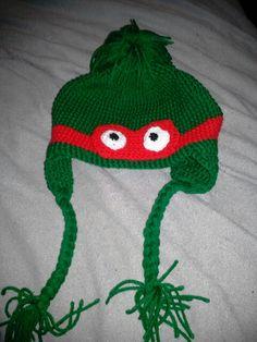 Teen mutant ninja turtle Mutant Ninja, Ninja Turtles, Beanie, Teen, Knitting, Hats, Projects, Log Projects, Blue Prints