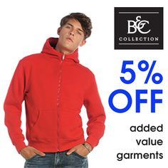 5% OFF B&C added value garments #SpecialOffer