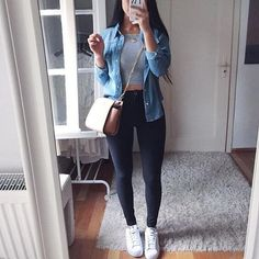 Cute outfit for running errands. - Cute outfit for running errands. Best Picture For e girl outfits For Your Taste You are looking f - Mode Outfits, Trendy Outfits, Fashion Outfits, Womens Fashion, Casual Dinner Outfit Summer, Club Outfits, Night Outfits, Fashion Trends, Cute Date Outfits