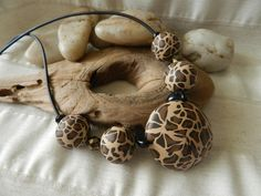 Leopard Necklace - polymer clay