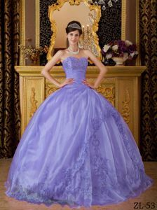 Ruched Sweetheart Puffy Sweet 15 Dresses with Embroidery in Martinsburg