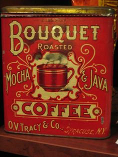 Love old tins...especially coffee tins!