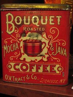 Bouquet Coffee tin