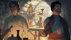 After Han was rescued from the clutches of Jabba the Hutt, the team returns to the Millennium Falcon to regroup. ILM Art Department Challenge: The Moment - Falcon Star Wars Fan Art, Star Wars Concept Art, Han And Leia, The Hutt, Star Wars Episode Iv, Geek Art, Best Artist, Comic Books, Star Wars Art