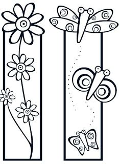 Bookmarks to cut and color (kids) Colouring Pages, Adult Coloring Pages, Coloring Sheets, Coloring Books, Paper Art, Paper Crafts, Diy Crafts, Book Markers, Digi Stamps