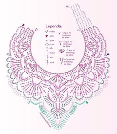 als inzet voor shirt Free Patterns: With the arrival of cold, crochet collars are fashionable. alice brans posted Gráfico maxi colar em crochê to their -crochet ideas and tips- postboard via the Juxtapost bookmarklet. MiiMii - crafts for mom and daughte Crochet Collar Pattern, Col Crochet, Crochet Lace Collar, Crochet Diagram, Crochet Stitches Patterns, Crochet Chart, Thread Crochet, Irish Crochet, Crochet Motif