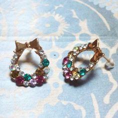 Boucles d'oreilles - L'hibiscus