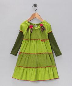 Take a look at this Green Tier Knit Dress - Infant & Toddler on zulily today!