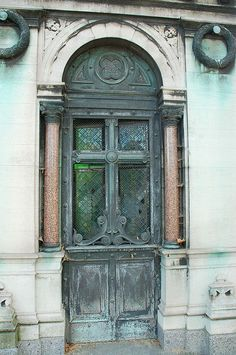 Mausoleum door with stained glass & Antique Mausoleum Key | Locks Keys Doorbells Knobs \u0026 Knockers ... Pezcame.Com