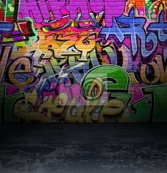 Graffiti Wall Urban Art Background Grunge Hip Hop Artistic Design