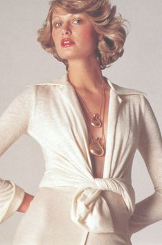 Elsa Peretti designed necklaces for Halston's signature fragrance. 1970s