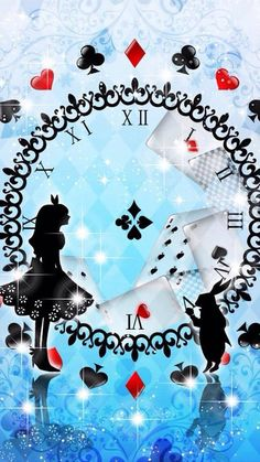 Alice in Wonderland Wallpaper.By Artists@ Disney. Lilo Et Stitch, Alice Madness Returns, Baby Mobile, Were All Mad Here, Mad Hatter Tea, Mad Hatters, Lewis Carroll, Adventures In Wonderland, Wonderland Party