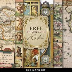 free to print- vintage maps, lots of other great printables!