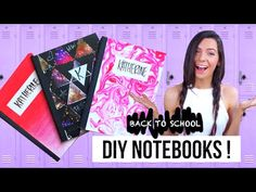 DIY Tumblr Notebooks for Back to School! Easy DIY School Supplies! - YouTube