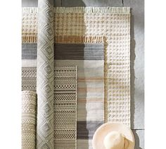 Stinson Synthetic Indoor/Outdoor Rug - Gray Multi #potterybarn