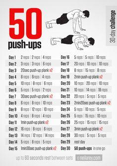 50 Push-ups 30 day Challenge!