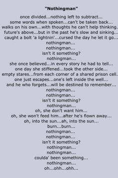 Pearl Jam ..lies and brokeness...  :( ...hope :) forgiveness :) grace :)