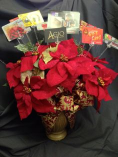 Gift card bouquet for christmas christmas gifts pinterest gift card bouquet negle Choice Image