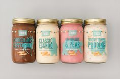 Fiasco Gelato's 2017 Winter Collection is Bringing All The Holiday Cheer - Food Ice Cream Packaging, Jar Packaging, Dessert Packaging, Cookie Packaging, Food Packaging Design, Packaging Design Inspiration, Popcorn Packaging, Packaging Ideas, Ice Cream Design