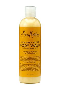 SheaMoisture's Raw Shea Butter Body Wash cleanses, deeply moisturizes and rejuvenates dry, dull skin. Helps prevent early signs of aging.