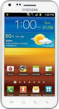 Samsung Galaxy S II Epic Touch 4G Android Phone, White (Sprint)  A premium Android-powered smartphone, the Samsung Epic 4G Touch for Sprint has been designed to deliver the best multilayered entertainment experience thanks to its superior speed and display innovation. Powered by one of the fastest processors on the market--the new 1.2 GHz dual-core Samsung Exynos, the Epic 4G Touch runs on Sprint's ultra-fast 4G network (as ...
