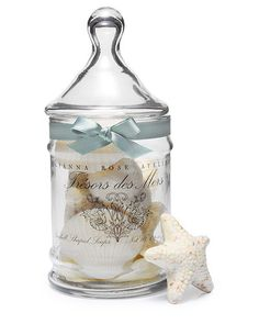 I have an apothecary jar just like this! It just needs a ribbon and a decal. I'm on it!