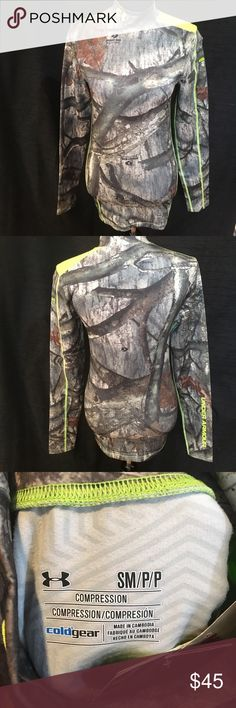NWT Under Armour Compression Fit Mossy Oak Shirt NWT Under Armour Compression Fit Mossy Oak Long Sleeved Shirt.  Cold Gear Infrared, scent control.  Checkout my other listings and add to a bundle to save! Under Armour Shirts Tees - Long Sleeve