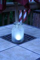 Mason jar solar lights. Perfect for the backyard!