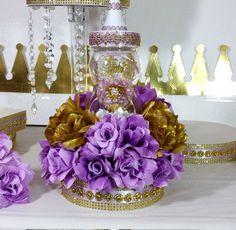 Girls Princess Baby Shower Centerpiece With Lavender
