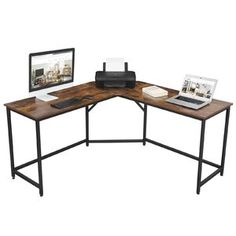 "Ebern Designs Kunigunde 69.29"" H x 39.37"" W Library Bookcase & Reviews   Wayfair Home Office Desks, Office Furniture, Furniture Decor, Decoration Gris, Gaming Desk, Gaming Setup, Etagere Bookcase, Ladder Bookcase, Desks"