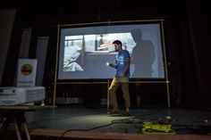 Tudor Baciu drives around the Romanian countryside with his 'Cinemobile', screening films in villages with no cinemas. Screen Film, Public Spaces, Films, Movies, Tudor, Outdoor Spaces, Lighter, Bring It On, Cinema