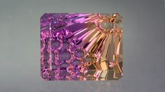 This transparent quartz has colors of both amethyst and citrine, and is called ametrine or amethyst-citrine.