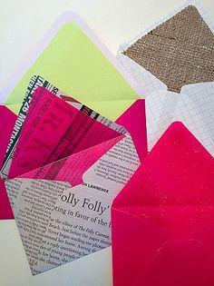 hand made envelope ideas