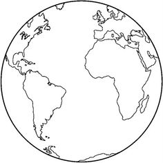 planeta tierra para colorear