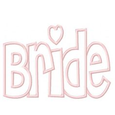 Bride Digital Embroidery Machine Applique Design 2923 by kayelee