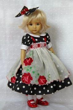 "Vintage Hanky OOAK Outfit for Effner 13"""
