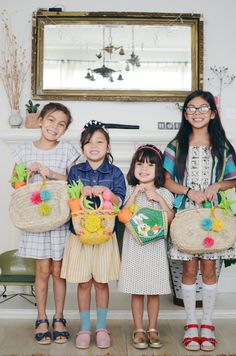 In the morning, we gave the girls their Easter baskets. Each gal got her own Clonette doll.
