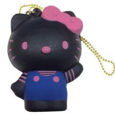 Black Friday Sanrio Hello Kitty Scent Squishy Mascot Ball Chain (Black) from TCP co.,ltd