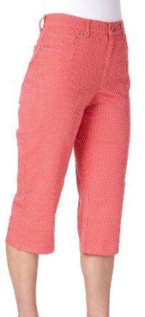 NWOT ORCHADIA CASUALS Capri Pants Dark Pink S  L