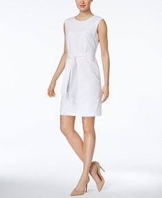 4472715$  Watch now - http://visuq.justgood.pw/vig/item.php?t=wyrmps17340 - Belted at the waist, Nine West's sheath dress looks perfect with an open-front blazer.