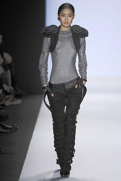 future fashion, cyberpunk style, futuristic clothing, black, grey