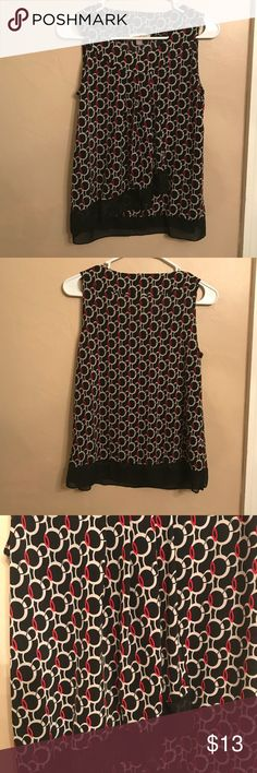 Roz & Ali sleeveless blouse Pretty and flowy. Great under a work blazer or on its own. Roz & Ali Tops Blouses
