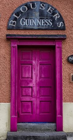 Pink Door in Westport, County Mayo, Ireland Grand Entrance, Entrance Doors, Doorway, Cool Doors, Unique Doors, Door Knockers, Door Knobs, Portal, When One Door Closes