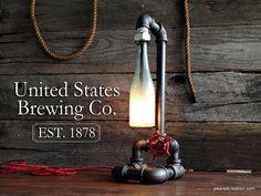 Tubería Industrial Vintage lámpara - grifo interruptor - mobiliario Industrial - accesorio de tubería - Bar Decor - Steampunk