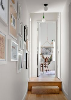 The Founders of Fowlkes Studio Revamped Their 1930s Washington DC Home With an Extension Rug Placement, Hallway Designs, Brick Facade, Built In Bookcase, House Extensions, Flooring Options, Cozy Cottage, Entryway Decor, Entryway Ideas