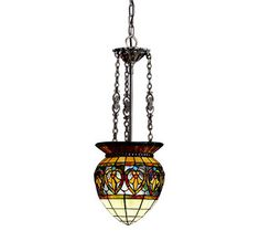 Kichler 65134 Stained Glass / Tiffany Single Light Foyer Pendant from the Provencia Collection.  310.00 orig/ret.