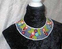 Lace collar, textile art