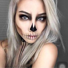 ♡ entice ♡ - #entice Halloween Makeup Artist, Unique Halloween Makeup, Holiday Makeup Looks, Trendy Halloween, Halloween Makeup Looks, Halloween 2018, Halloween Halloween, Pretty Skeleton Makeup, Halloween Skeleton Makeup
