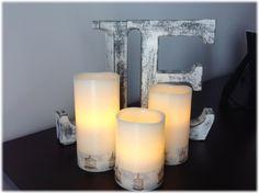 decorando originales velas washi tape