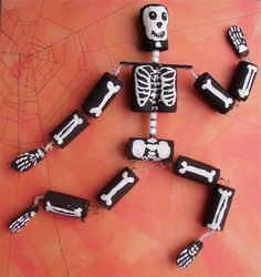 Halloween Wine Cork Skeleton